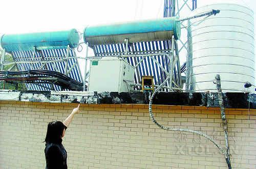 神光太阳能热水器三年修了几十次